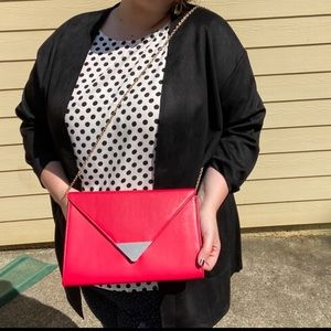 Red bag with gold chain